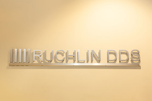 Stephen L Ruchlin DDS's logo sign in the wall.